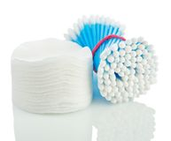 Cotton Disks And Buds Stock Photography