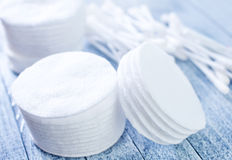 Cotton disks Royalty Free Stock Photos
