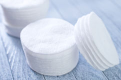 Cotton disks Stock Image