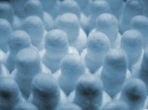 Cotton ear sticks. Repeating in perspective Stock Images