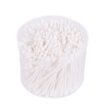 Cotton ear sticks in round box. Royalty Free Stock Photo