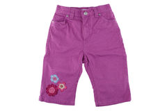 Cotton elegant children's trousers for summer Royalty Free Stock Photo