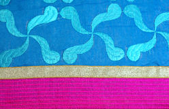 Cotton fabric. With floral design embroidery Stock Images
