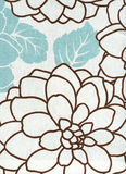 Cotton fabric with floral pattern Stock Photos