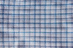 Cotton fabric natural ,Grid pattern blue and white and Rough surface background. Royalty Free Stock Image