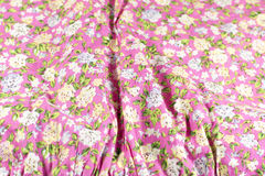 Cotton fabric with a pattern of flowers Royalty Free Stock Photography