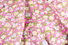 Cotton fabric with a pattern of flowers Royalty Free Stock Image