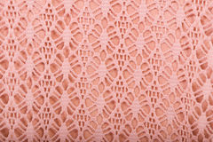 Cotton fabric with pink lace Stock Photo