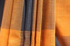 Cotton fabric. Saree pattern background Stock Photos