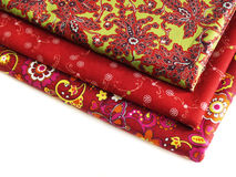 Cotton fabric for sewing design Royalty Free Stock Images