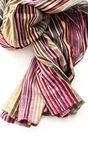 Cotton fabric with a striped pattern Stock Photo