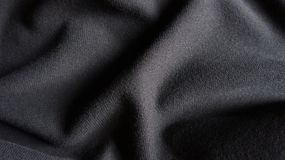 Cotton Fabric Texture Woven Cloth Background Close-Up. Black & grey cotton fabric texture woven cloth close-up Stock Photography