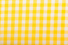 Cotton fabric texture yellow Royalty Free Stock Photos