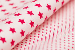 Cotton fabrics close-up Royalty Free Stock Photography