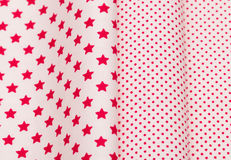 Cotton fabrics close-up Stock Photo