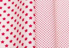 Cotton fabrics close-up Stock Photo