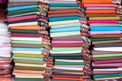 cotton fabrics of India Royalty Free Stock Photos
