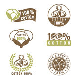 Cotton flower is organic and natural sign logo vector set design Stock Image