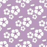 Cotton flower Seamless pattern. Flat style on cute lilac background. Vector illustration. Cotton flower Seamless pattern. Flat style vector illustration vector illustration