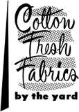 Cotton Fresh Fabrics Stock Photos