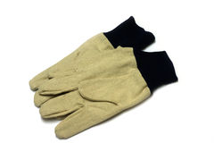 Cotton garden Gloves. Pair of cotton gardening gloves Stock Images