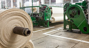 Cotton Gauze Factory Royalty Free Stock Images