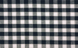 Cotton gingham check. A close view of a popular gingham fabric Stock Photography