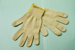 Cotton glove royalty free stock photos