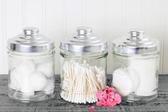 Cotton health care supplies royalty free stock photography