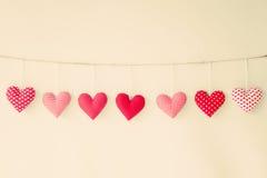 Cotton Hearts Stock Image