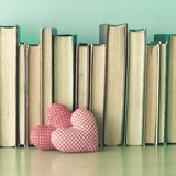 Cotton Hearts and books stock image