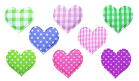 Cotton hearts Stock Photos
