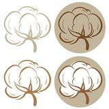 Cotton icons Stock Image