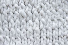 Cotton knit texture. White cotton knit texture stock photos