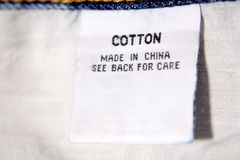 Cotton label Royalty Free Stock Photo