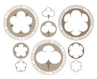 Cotton.  labels and icons on white background Stock Photography