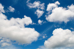 Cotton like cloudy sky Stock Images