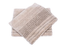 Cotton linen cut pile rug Stock Photos