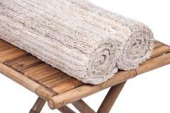 Cotton linen cut pile rug Stock Images