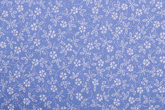 Cotton linen fabric texture. With drawing flowers Stock Images