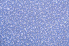 Cotton linen fabric texture. With drawing flowers Royalty Free Stock Photos