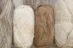 Cotton and linen yarn Royalty Free Stock Images