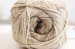 Cotton and linen yarn Stock Photos
