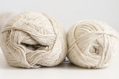 Cotton and linen yarn Stock Images