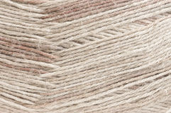 Cotton and linen yarn texture Stock Photos