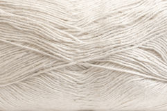 Cotton and linen yarn texture Royalty Free Stock Photos