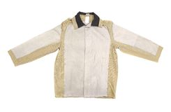 Cotton men's jacket white and beige Royalty Free Stock Image