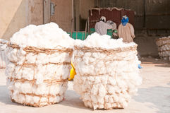 Cotton. Mill at Thailand Stock Image