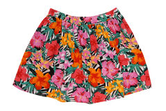 Cotton multicoloured skirt royalty free stock photos