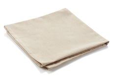 Cotton napkin. Beige cotton napkin isolated on white background stock photos